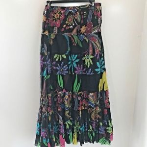 New Directions PM Skirt Maxi Broomstick Floral